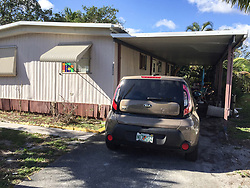 This is the home that was searched in Lantana Cascades, FL, USA, where the shooter supposedly lived at for a period of time. Deputies arrived about 6 pm Wednesday night, along with a bomb squad unit. Photo by Skyler Swisher/Sun Sentinel/TNS/ABACAPRESS.COM