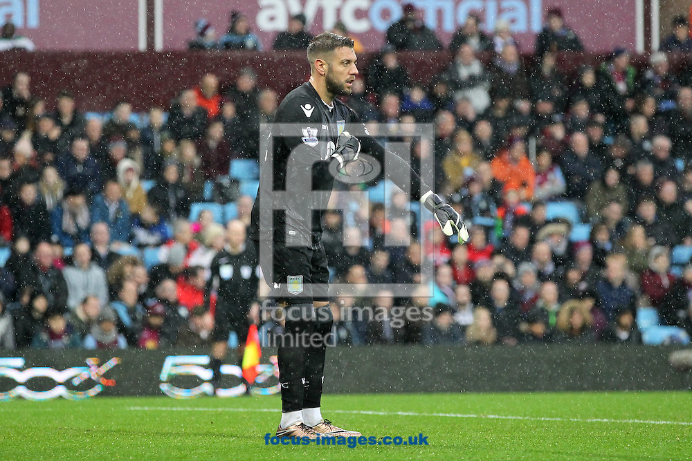 Mark Bunn of Aston Villa during the Barclays Premier League match at Villa Park, Birmingham<br /> Picture by Paul Chesterton/Focus Images Ltd +44 7904 640267<br /> 06/02/2016