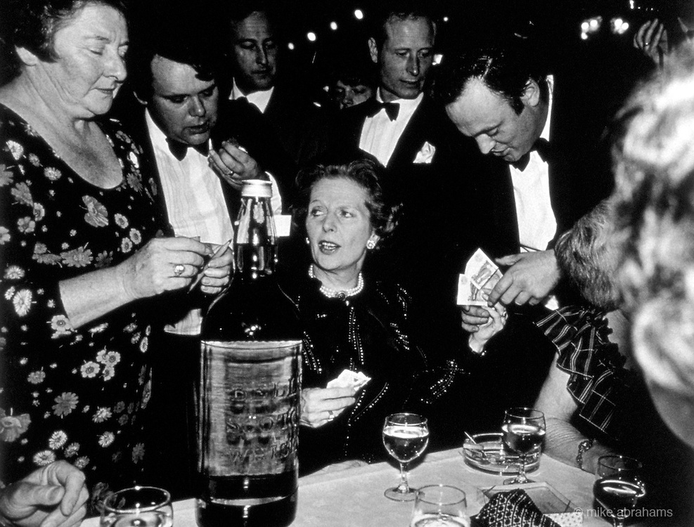 Margaret Thatcher at fundraising event. CONSERVATIVE PARTY CONFERENCE IN BLACKPOOL 1983,