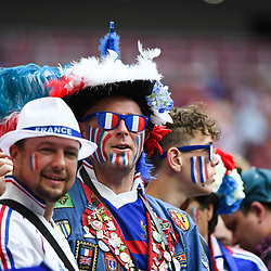 Fans of France during the World Cup Final match between France and Croatia at Luzhniki Stadium on July 15, 2018 in Moscow, Russia. (Photo by Anthony Dibon/Icon Sport)