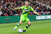 Norwich City forward Teemu Pukki (22) in action during the EFL Sky Bet Championship match between Middlesbrough and Norwich City at the Riverside Stadium, Middlesbrough, England on 30 March 2019.