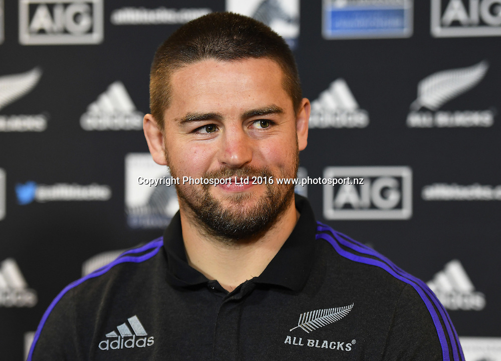 Dane Coles during an All Blacks press conference in Hamilton ahead of the The Rugby Championship test match against Argentina. Thursday 8 September 2016. © Copyright Photo: Andrew Cornaga / www.Photosport.nz