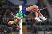 Maksim Nedasekau (BLR) places third in the high jump at 7-5¾ (2.28m)  during the 39th Golden Gala Pietro Menena in an IAAF Diamond League meet at Stadio Olimpico in Rome on Thursday, June 6, 2019. (Jiro Mochizuki/Image of Sport)