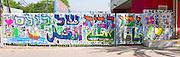 Jaffa, everybody's home. a graffiti on a wall in Jaffa, Israel written in Hebrew and Arabic