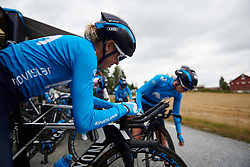 Rachel Neylan (AUS) at Ladies Tour of Norway 2018 Team Time Trial, a 24 km team time trial from Aremark to Halden, Norway on August 16, 2018. Photo by Sean Robinson/velofocus.com