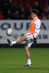 LONDON, ENGLAND - Friday, February 8, 2008: Charlton Athletic's Zheng Zhi warming up against Crystal Palace during the League Championship match at the Valley. (Photo by Chris Ratcliffe/Propaganda)