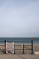 Sign prohibiting the removal of stones from the beach in Bray Wicklow Ireland