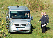 © Licensed to London News Pictures. 05/10/2014. Brentford, UK A private ambulance drives away after Police remove the body of Arnis Zalkains from Boston Manor Park today 5th October 2014. The body of a man, believed to be Latvian killer Arnis Zalkalns, was found in Boston Manor Park, Brentford, almost six weeks after the schoolgirl Alice Gross vanished. Arnis Zalkalns was prime suspect in the murder of 14-year-old Alice Gross.. Photo credit : Stephen Simpson/LNP