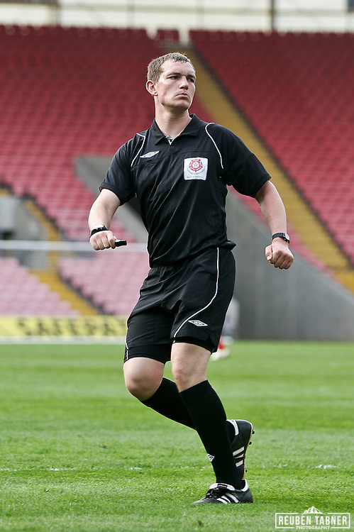 © Reuben Tabner. .Northern Echo Darlington Arena, Darlington, UK  23/04/11. .Darlington FC v York City FC..Referee Mr Paul Hodskinson. .Please see special instructions for usage rates. Photo credit should read: Reuben Tabner