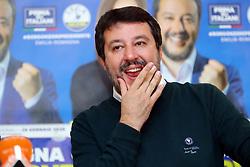 Foto Filippo Rubin<br /> 07/11/2019 Bologna (Italia)<br /> Cronaca Politica<br /> Presentazione campagna elettorale Lucia Borgonzoni candidata Lega - Hotel Savoia Regency<br /> Nella foto: Matteo Salvini<br /> <br /> Photo by Filippo Rubin<br /> November 07th, 2019 Bologna (Italy)<br /> News <br /> Lucia Borgonzoni and Matteo Salvini - Hotel Savoia Regency <br /> In the pic: Matteo Salvini