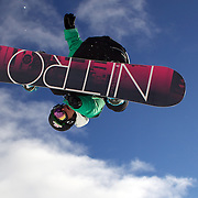 Steve Krijbolder, The Netherlands, in action during the Men's Half Pipe Qualification in the LG Snowboard FIS World Cup, during the Winter Games at Cardrona, Wanaka, New Zealand, 27th August 2011. Photo Tim Clayton..