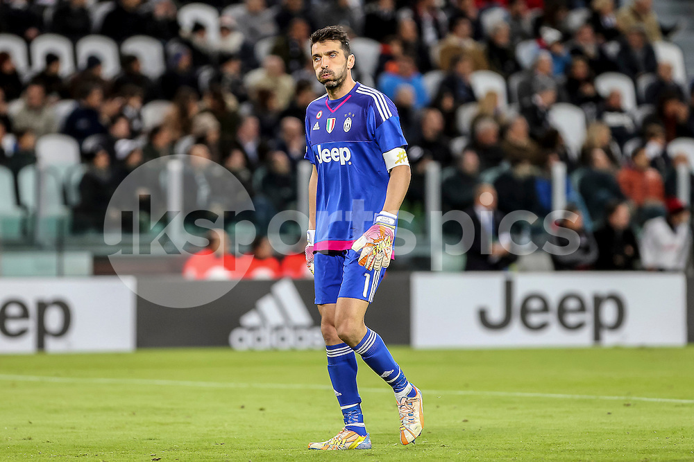 Gianluigi Buffon of Juventus during the Serie A TIM match between Juventus and AC Milan at the Juventus Stadium, Turin, Italy on 21 November 2015. Photo by sync studio.