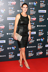 © Licensed to London News Pictures. 08/05/2014, UK. Kirsty Gallacher, BT Sport Industry Awards 2014, Battersea Evolution, London UK, 08 May 2014. Photo credit : Brett D. Cove/Piqtured/LNP