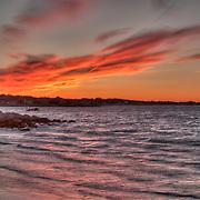 Sunset over Wingaersheek Beach and Ipswich Bay, seen from Annisquam.