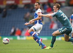 Elliott Bennett of Blackburn Rovers (L) and Dan Burn of Wigan Athletic in action - Mandatory by-line: Jack Phillips/JMP - 04/03/2017 - FOOTBALL - Ewood Park - Blackburn, England - Blackburn Rovers v Wigan Athletic - Football League Championship