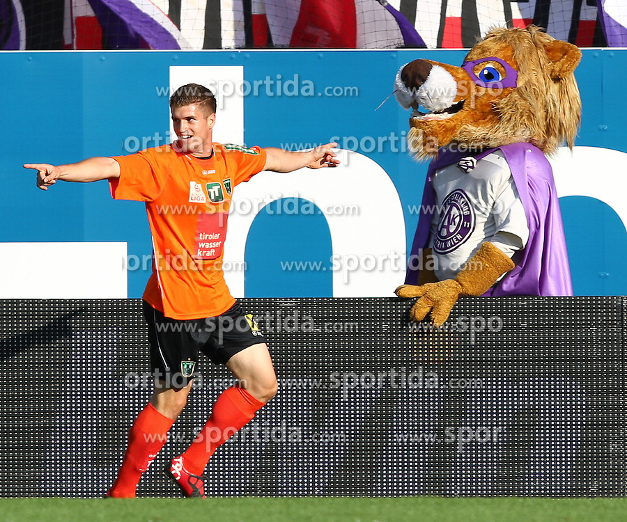 29.08.2010, Horr Stadion, Wien, AUT, 1. FBL, FK Austria Wien vs FC Wacker Innsbruck, im Bild Torjubel von Julius Perstaller, (FC Wacker Innsbruck, #22) ,  EXPA Pictures © 2010, PhotoCredit: EXPA/ T. Haumer / SPORTIDA PHOTO AGENCY