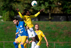 Mitja Lotrič of Celje vs Ibrahim Arafat Mensah of Bravo during football match between NK Bravo and NK Celje in 13th Round of Prva liga Telekom Slovenije 2019/20, on October 5, 2019 in ZAK stadium, Ljubljana, Slovenia. Photo by Vid Ponikvar / Sportida