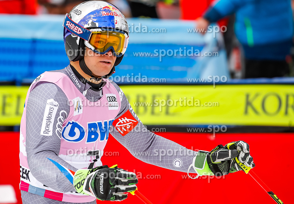 03.12.2017, Beaver Creek, USA, FIS Weltcup Ski Alpin, Beaver Creek, Riesenslalom, Herren, 2. Lauf, im Bild Alexis Pinturault (FRA) // Alexis Pinturault of France reacts after his 2nd run of men's Giant Slalom of FIS ski alpine world cup in Beaver Creek, United Staates on 2017/12/03. EXPA Pictures © 2017, PhotoCredit: EXPA/ Johann Groder