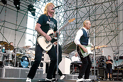 Worldwide famous with british rock legends Status Quo, guitar player Rick Parfitt dies at 68 in Marbella's Hospital (Sain) for the consequences of a serious infection. File images with Quo's co-founder Francis Rossi, during a big show in Como, Italy, in 2004.<br /> 25 Dec 2016<br /> Pictured: Rick Parfitt and Francis Rossi and Status Quo.<br /> Photo credit: Bruno Marzi / MEGA<br /> <br /> TheMegaAgency.com<br /> +1 888 505 6342
