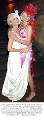 Left to right, sisters JEMMA KIDD and JODIE KIDD, at a ball in London on 23rd October 2002.PEK 223