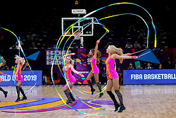 Cheerleaders Red Foxes perform during basketball match between National Teams of Slovenia and Ukraine at Day 10 in Round of 16 of the FIBA EuroBasket 2017 at Sinan Erdem Dome in Istanbul, Turkey on September 9, 2017. Photo by Vid Ponikvar / Sportida
