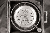Nautical clock from Mystic Seaport Museum in Mystic, CT, U.S.A.