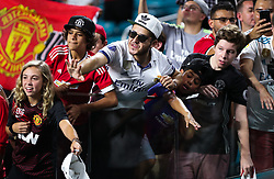July 31, 2018 - Miami Gardens, Florida, USA - Fans call the attention from players leaving the field at the end of an International Champions Cup match between Real Madrid C.F. and Manchester United F.C. at the Hard Rock Stadium in Miami Gardens, Florida. Manchester United F.C. won the game 2-1. (Credit Image: © Mario Houben via ZUMA Wire)
