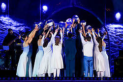 18.03.2017, Planai-Stadion, Schladming, AUT, Special Olympics 2017, Wintergames, Eröffnungsfeier, im Bild Tänzer von der Vereinigung Wiener Staatsopernballett // dancers of the Wiener Staatsopernballett during the opening ceremony in the Planai Stadium at the Special Olympics World Winter Games Austria 2017 in Schladming, Austria on 2017/03/17. EXPA Pictures © 2017, PhotoCredit: EXPA / Martin Huber