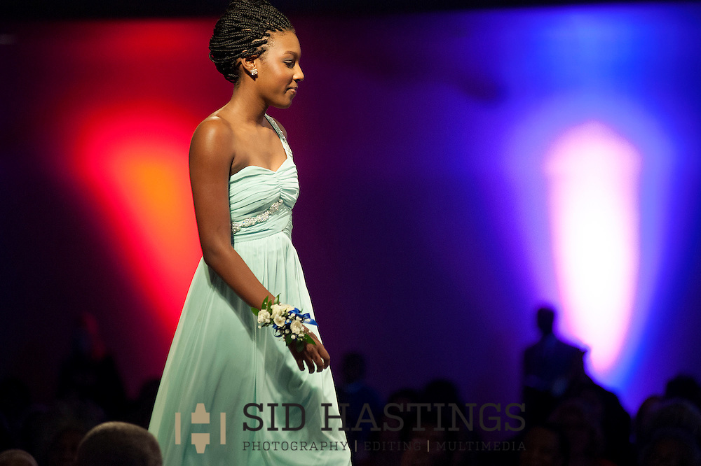 13 DEC. 2014 -- ST. LOUIS -- Kira Lynne Downing, an honoree, walks the runway during the Mathews-Dickey Sheer Elegance Fashion Show No. 26 at the Khorassan Ballroom at the Chase Park Plaza Hotel in St. Louis Saturday, Dec. 13, 2014. Photo © copyright 2014 Sid Hastings.