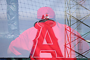 ANAHEIM, CA - JULY 26:  Double exposure of Batting coach Don Baylor #25 of the Los Angeles Angels of Anaheim looks on during batting practice before the game against the Detroit Tigers at Angel Stadium on Saturday, July 26, 2014 in Anaheim, California. The Angels won the game in a 4-0 shutout. (Photo by Paul Spinelli/MLB Photos via Getty Images) *** Local Caption *** Don Baylor