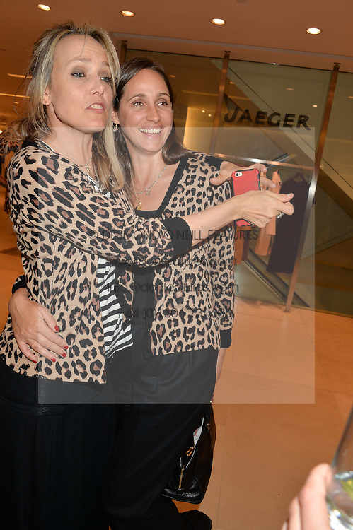 Left to right, BAY GARNETT and ROSEMARY FERGUSON at the launch of the 'Jasmine for Jaeger' fashion collection by Jasmine Guinness for fashion label Jaeger held at Fenwick's, Bond Street, London on 9th September 2015.