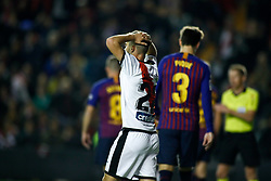November 3, 2018 - Madrid, MADRID, SPAIN - Pozo of Rayo during the Spanish Championship, La Liga, football match between Rayo Vallecano and FC Barcelona on November 03th, 2018 at Estadio de Vallecas in Madrid, Spain. (Credit Image: © AFP7 via ZUMA Wire)