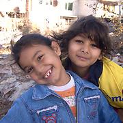 Roma gypsies children,living in Fakulteta Mahala, Roma Ghetto on the outskirts of Sofia, Bulgaria