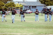 NZ players warm-up before a match against Australia.<br /> NZ v Australia, BCO U15 Championship. Lloyd Elsmore Park, Pakuranga, Auckland, New Zealand. 20 January 2018. &copy; Copyright Image: Marc Shannon / www.photosport.nz.