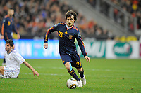 FOOTBALL - FRIENDLY GAME 2010 - FRANCE v SPAIN - 03/03/2010 - PHOTO JEAN MARIE HERVIO / DPPI - DAVID SILVA (SPA)