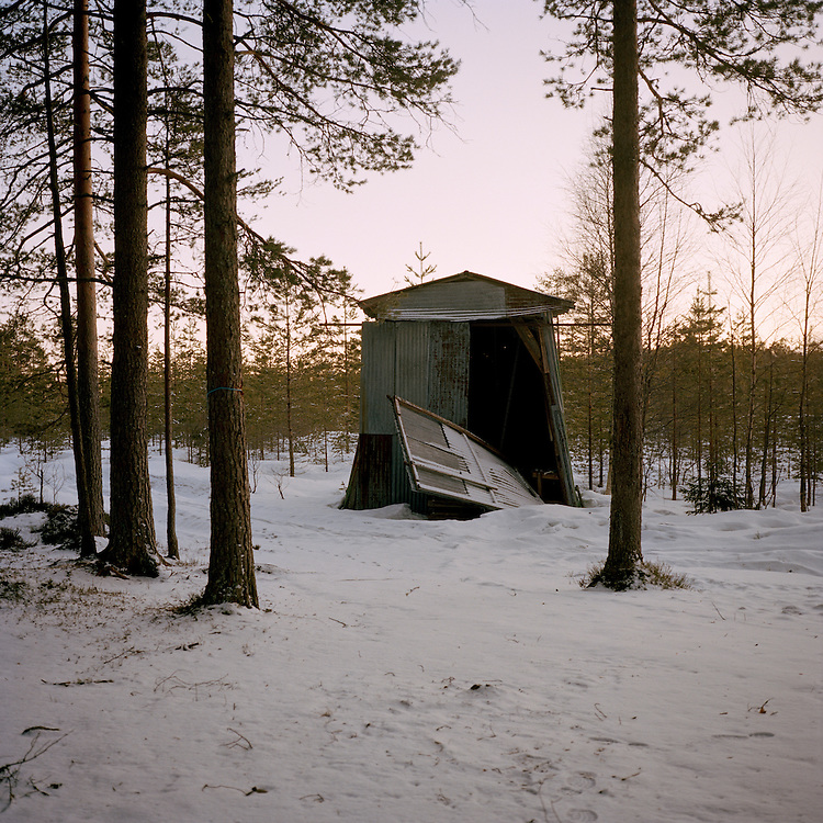 Slaughter house where hunters use to slaughter their moose and other animals. Perfekt, Norway. . ..Photo by Knut Egil Wang /MOMENT