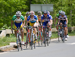 GC leader Javier Zapata (CAI) leads a 9 man break to the top of Monticello, as the races re-enters Charlottesville.  Stage 7, the final stage of the Tour of Virginia, started and finished just off of Charlottesville's historic downtown mall on April 29, 2007.  The stage took country roads through Albemarle and Buckingham Counties, passing through the University of Virginia, the town of Scottsville, and Thomas Jefferson's Monticello before finishing in a series of circuits around downtown Charlottesville, VA.