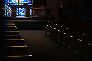The sanctuary and altar on Wednesday, May 13, 2020, at St. Paul's Lutheran Church, Columbia, Ill. LCMS Communications/Erik M. Lunsford