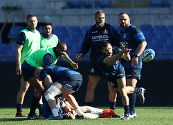 February 8, 2019 - Rome, Italy - Italy captain's run - Rugby Guinness Six Nations .Italy rugby team training captain's run in view of the match versus Wales. Guglielmo Palazzani at Olimpico Stadium in Rome, Italy on February 8, 2019. (Credit Image: © Matteo Ciambelli/NurPhoto via ZUMA Press)