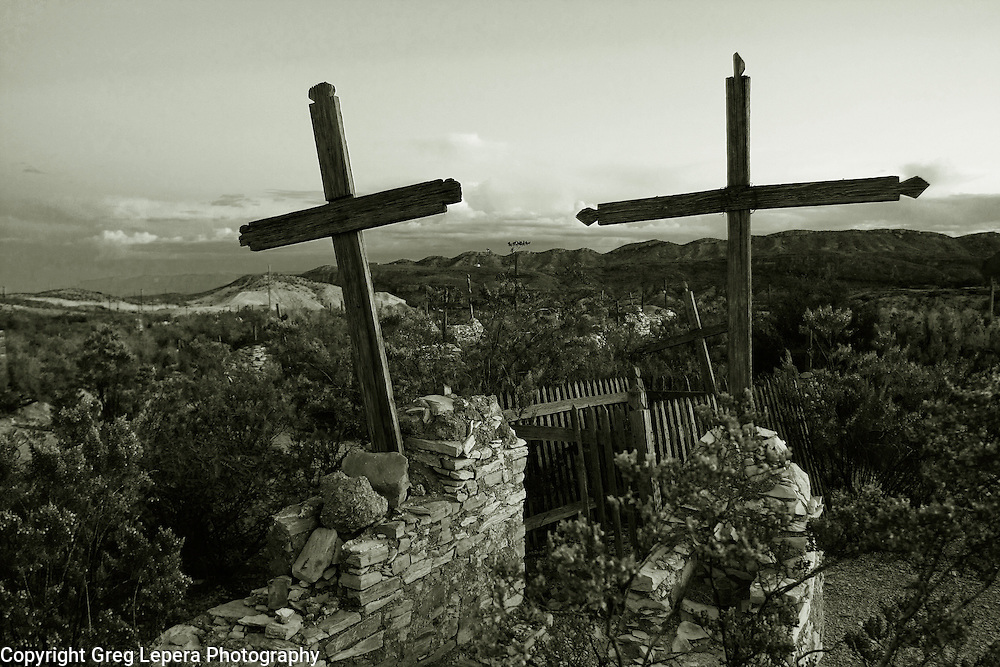 Cemetery at Terlingua, Texas