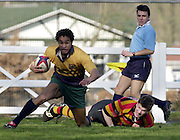 © Peter Spurrier/ Intersport-Images.Photo Peter Spurrier.15/03/2003.Sport - Rugby  National League Div 2 Henley v Harrogate.Nnamdi Obi runs the first of Henley's tries in.
