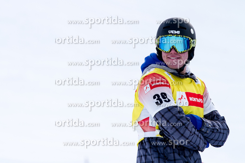 Matic Kvas at 12th European Youth Olympic Winter Festival in Verarlberg and Liehtenstein on January 26, 2015. (Photo by Peter Kastelic / Sportida.com)
