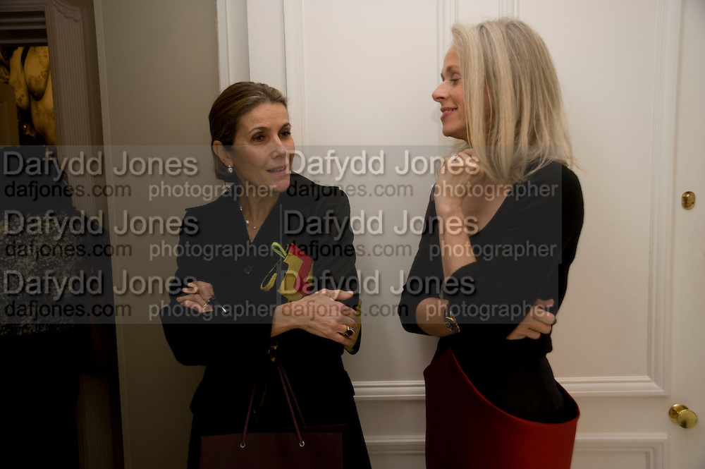HAYAT PALUMBO; NICOLETTE KWOK. Zaha Hadid and Triflow Concepts host the launch of a pioneering new kitchen and bathroom lifestyle. 46 Portland Place. London. 28 January 2009 *** Local Caption *** -DO NOT ARCHIVE-© Copyright Photograph by Dafydd Jones. 248 Clapham Rd. London SW9 0PZ. Tel 0207 820 0771. www.dafjones.com.<br /> HAYAT PALUMBO; NICOLETTE KWOK. Zaha Hadid and Triflow Concepts host the launch of a pioneering new kitchen and bathroom lifestyle. 46 Portland Place. London. 28 January 2009