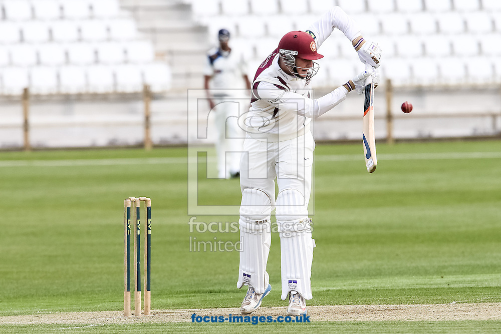 Rob Keogh of Northamptonshire County Cricket Club defends during the Friendly match at the County Ground, Northampton, Northampton<br /> Picture by Andy Kearns/Focus Images Ltd 0781 864 4264<br /> 08/04/2014