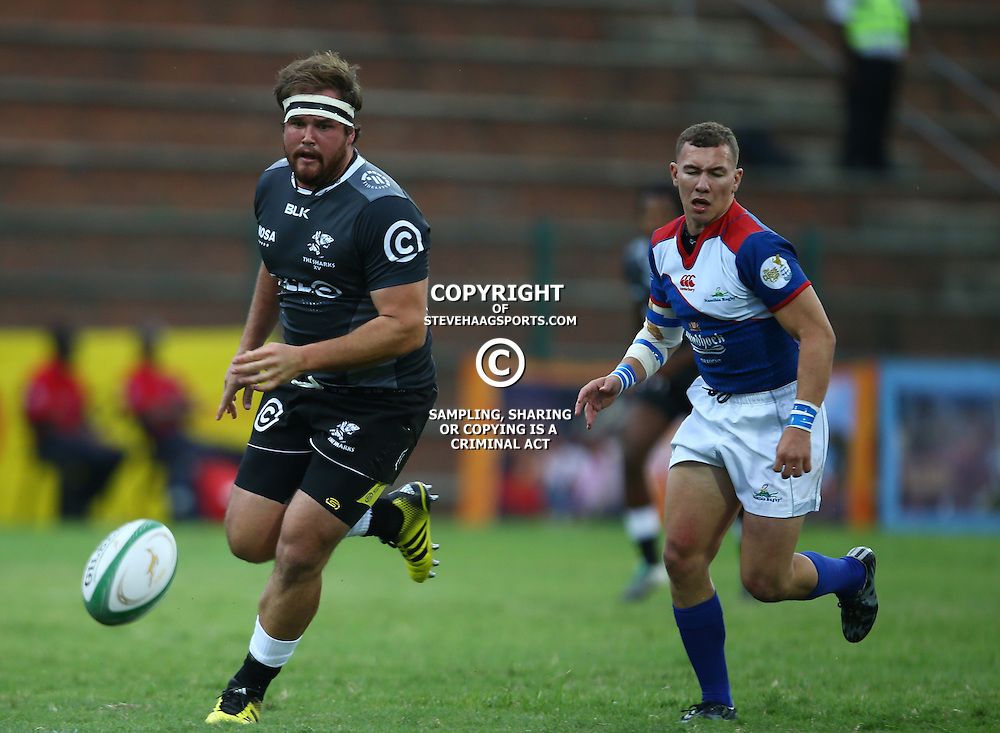 DURBAN, SOUTH AFRICA - APRIL 23: John Meyer of the Cell C Sharks XV during the Provincial Cup match between Cell C Sharks XV and Windhoek Draught Welwitschias at King Zwelithini Stadium on April 23, 2016 in Durban, South Africa. (Photo by Steve Haag/Gallo Images)