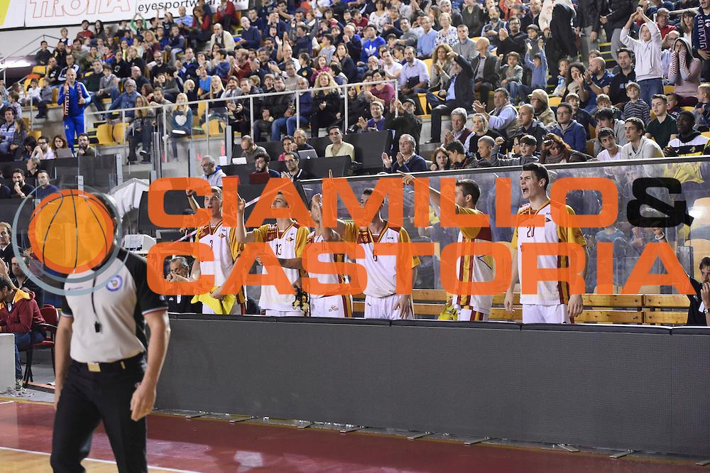 \panchina Unicusano Roma<br /> Unicusano Roma - Benacquista Assicurazioni Latina<br /> Campionato Basket LNP 2016/2017<br /> Roma 06/11/2016<br /> Foto Ciamillo-Castoria