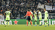 Manchester City players protest to the referee follow Juventus scoring their first goal during the UEFA Champions League match at Juventus Stadium, Turin<br /> Picture by Stefano Gnech/Stella Pictures Ltd +39 333 1641678<br /> 25/11/2015
