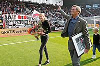 ALKMAAR - 04-10-2015, AZ - FC Twente, AFAS Stadion, Jan de Boer neemt afscheid van de supporters.