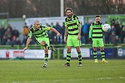 Forest Green Rovers Liam Noble(15) free kick during the Vanarama National League match between Forest Green Rovers and Braintree Town at the New Lawn, Forest Green, United Kingdom on 21 January 2017. Photo by Shane Healey.