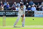 Craig Overton of Somerset batting during the Specsavers County Champ Div 1 match between Somerset County Cricket Club and Worcestershire County Cricket Club at the Cooper Associates County Ground, Taunton, United Kingdom on 20 April 2018. Picture by Graham Hunt.